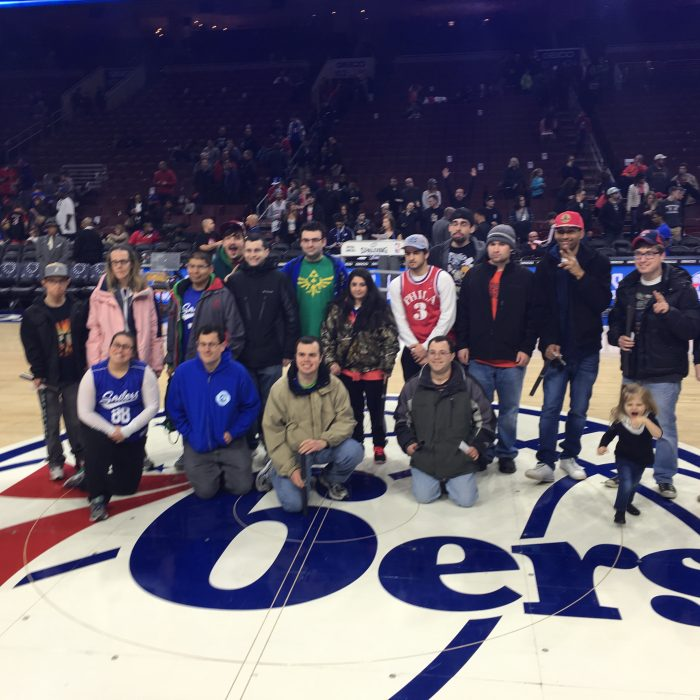sail on 76ers floor